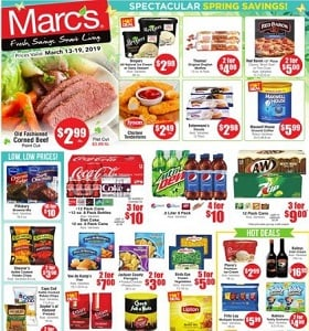 Marc's Weekly Ad March 13 - March 19, 2019. Spectacular Spring Savings!