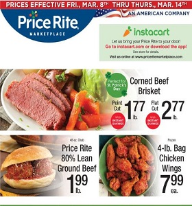 Price Rite Weekly Flyer March 8 - March 14, 2019. Corned Beef Brisket!