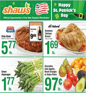 Shaw's Weekly Ad March 15 - March 21, 2019. Happy St. Patrick's Day!