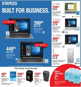 Staples Weekly Ad March 10 - March 16, 2019. Built For Business!