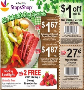 Stop & Shop Weekly Ad March 8 - March 14, 2019. St. Patrick's Day Specials!