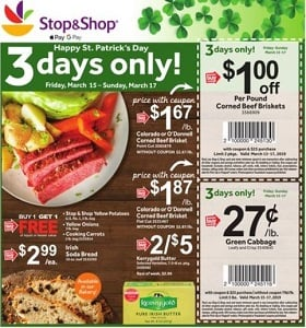 Stop & Shop Weekly Flyer March 15 - March 21, 2019. Happy St. Patrick's Day!