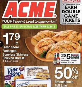 Acme Weekly Ad April 26 - May 2, 2019. Entenmann's Full Line Sale!