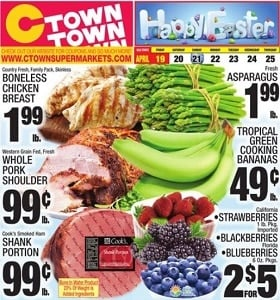 Ctown Weekly Ad April 19 - April 25, 2019. Happy Easter!