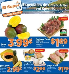 El Super Weekly Circular April 10 - April 16, 2019. Lent Specials!
