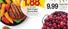 Kroger Weekly Ad April 24 - April 30, 2019. Red Seedless Grapes on Sale!