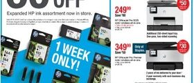 Staples Weekly Ad April 7 - April 13, 2019. HP Ink On Sale!