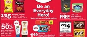 Walgreens Weekly Flyer April 28 - May 4, 2019. Red Nose Day!