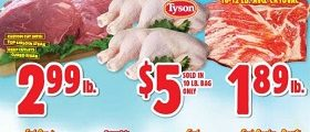 Western Beef Weekly Ad April 4 - April 10, 2019. Tyson Chicken Leg Quarters