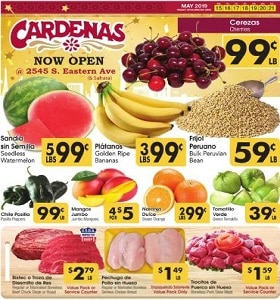 Cardenas Weekly Ad May 15 - May 21, 2019. Cherries on Sale!