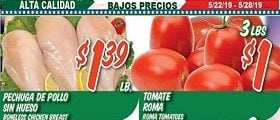 La Bonita Supermarkets Weekly Ad May 22 - May 28, 2019. Honor The Brave!