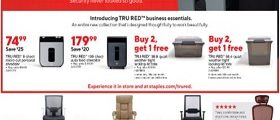 Staples Weekly Ad May 26 - June 1, 2019. TRU RED Beauty!
