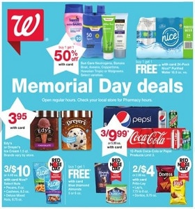Walgreens Weekly Ad May 26 - June 1, 2019. Memorial Day Deals!
