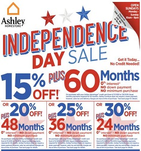 Ashley Furniture Weekly Ad June 25 - July 1st, 2019. Independence Day Sale!