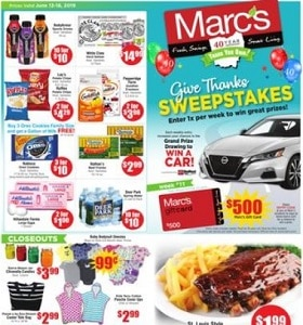 Marc's Weekly Ad June 12 - June 18, 2019. St. Louis Style Pork Ribs on Sale!