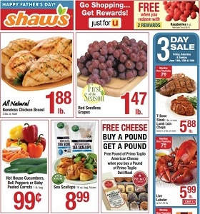 Shaw's Weekly Circular June 14 - June 20, 2019. Happy Father's Day!
