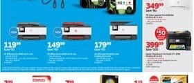 Staples Weekly Ad June 23 - June 29, 2019. HP OfficeJet Pro Ink Cartridges on Sale!