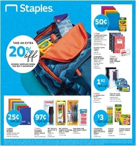 Staples Weekly Ad July 21 - July 27, 2019. School Supplies Deals!