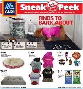 Aldi Weekly Flyer August 21 - August 27, 2019. Finds To Bark About!