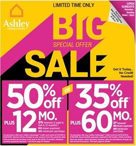 Ashley Furniture Weekly Ad August 13 - August 19, 2019. Big Special Offer Sale!