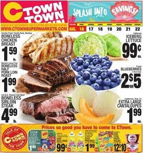 Ctown Weekly Circular August 16 - August 22, 2019. Splash Into Savings!