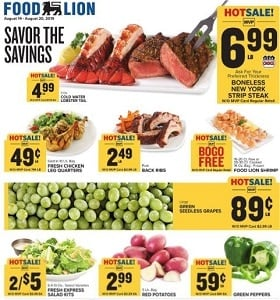 Food Lion Weekly Ad August 14 - August 20, 2019. Savor The Savings!