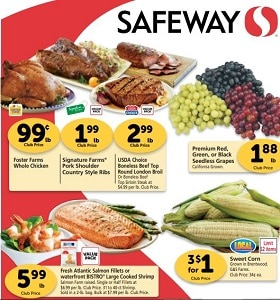 Safeway Weekly Ad August 14 - August 20, 2019. Foster Farms Whole Chicken