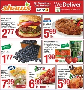 Shaw's Weekly Flyer August 23 - August 29, 2019. Shady Brook Farms Ground Turkey