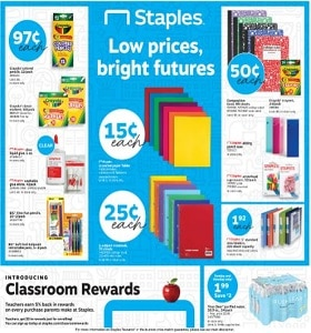 Staples Weekly Ad August 18 - August 24, 2019. Low Prices, Bright Futures!