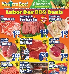 Western Beef Weekly Ad August 30 - September 4, 2019. Labor Day BBQ Deals!