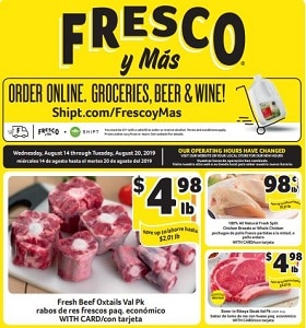 Winn Dixie Weekly Ad August 14 - August 20, 2019. Fresh Beef Oxtails