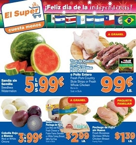 El Super Weekly Ad September 11 - September 17, 2019. Fresh Pork Country Style Strips