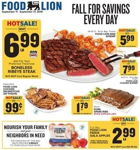 Food Lion Weekly Ad September 11 - September 17, 2019. Fall For Savings Every Day!