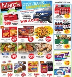 """Marc's Weekly Flyer September 11 - September 17, 2019. DiGiorno 12"""" Pizza"""