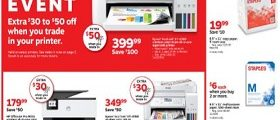 Staples Weekly Ad September 27 - October 3, 2019. Save + Trade Event!