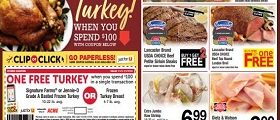 Acme Weekly Circular November 1 - Novrember 7, 2019. Get Your Free Turkey