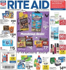 Rite Aid Weekly Ad October 13 - October 19, 2019. Monstrous Deals!