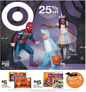 Target Weekly Flyer October 13 - October 19, 2019. Halloween Costumes on Sale!