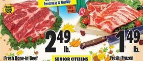 Western Beef Weekly Ad October 17 - October 23, 2019. Fresh Whole Pork Spare Ribs