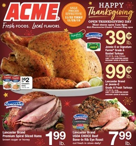 Acme Weekly Flyer November 22 - November 28, 2019. Happy Thanksgiving!
