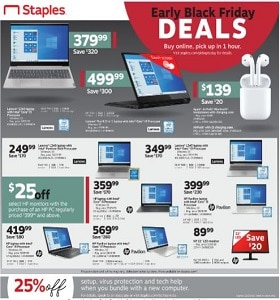 Staples Weekly Ad November 17 - November 23, 2019. Early Black Friday Deals!