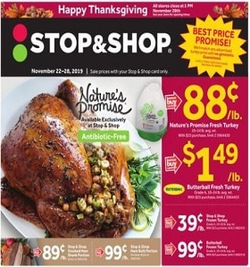 Stop & Shop Weekly Ad November 22 - November 28, 2019. Happy Thanksgiving!