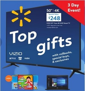 Walmart Top Gifts Ad Sale November 8 - November 10, 2019