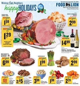 Food Lion Weekly Ad December 18 - December 24, 2019. Happy Holidays!