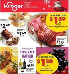 Kroger Weekly Flyer December 11 - December 17, 2019. Boneless Pork Half Loin
