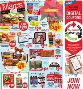 Marc's Weekly Ad December 4 - December 10, 2019. Butterball 85% Lean Ground Turkey