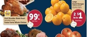 Safeway Weekly Ad Deember 11 - December 17, 2019. Pork Shoulder Blade Roast on Sale!