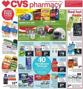 CVS Weekly Ad January 26 - February 1, 2020. Game Day BOGOs!