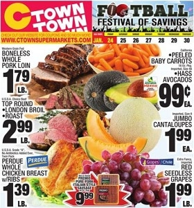 Ctown Weekly Circular January 24 - January 30, 2020. Football Festival of Savings!