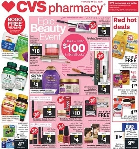 CVS Weekly Circular February 16 - February 22, 2020. Epic Beauty Event!